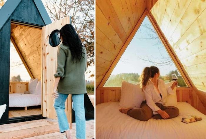 Иногда уединенный отдых крайне необходим (Bivvi Cabin).