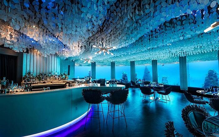 Subix -  подводный ресторан, который является частью курорта Niyama Private Islands Maldives (Мальдивы). | Фото: smarthomemaking.com.