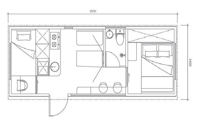План-чертеж увеличенной модели «Cube Two», созданной сингапурской компанией «Studio Nestron». | Фото: boredpanda.com.