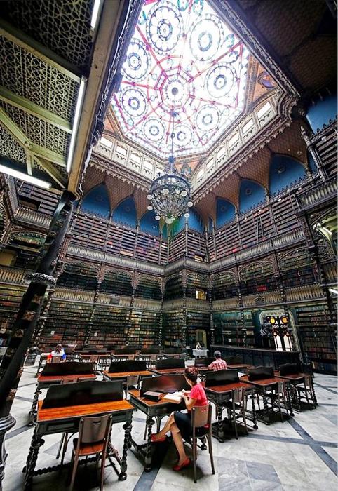 Королевский читальный зал в Рио-де-Жанейро (Бразилия).