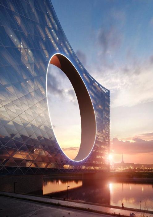 Комплекс «Башня Солнца» не будет нуждаться во внешних источниках энергии благодаря собственной гидроэлектростанции и солнечным батареям (Нур-Султан, Казахстан). | Фото: fainaidea.com.