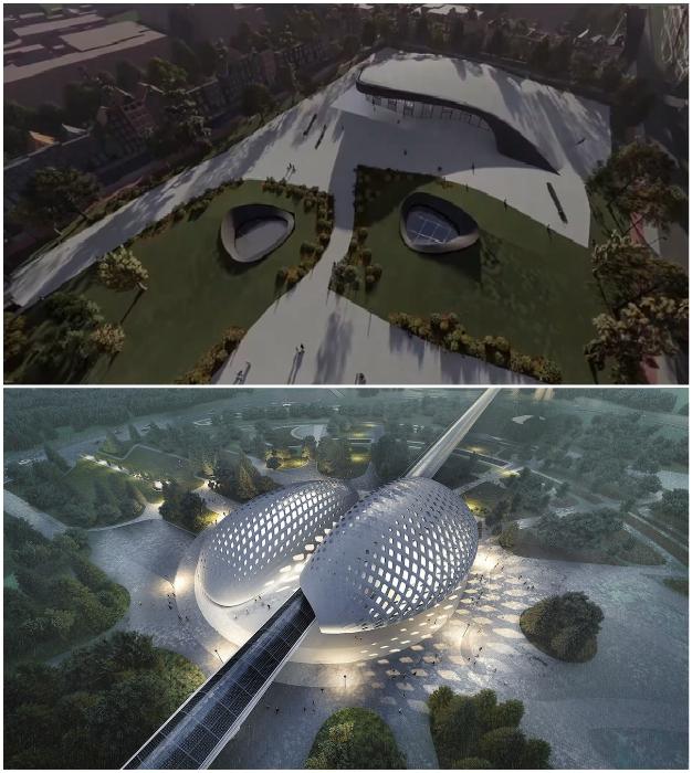 Станции HyperloopTT будут спроектированы как общественные центры, отражающие местную культуру.