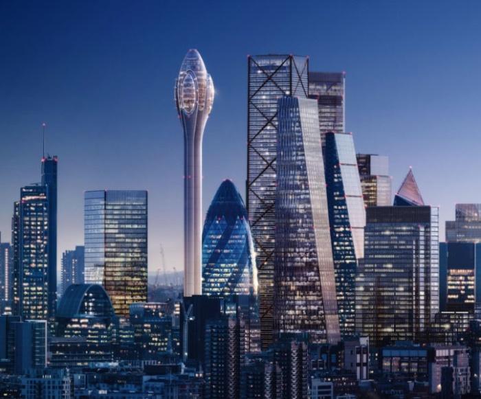 Мэр Лондона Садик Хан воспользовался своим правом вето и запретил строительство небоскреба «Тюльпан». | Фото mymodernmet.com.