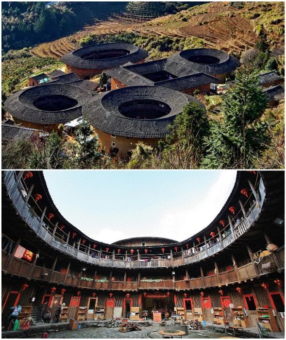 Дома-крепости рассчитаны на проживание нескольких сотен человек из одного клана.