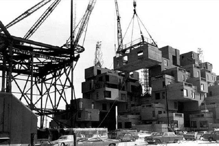 Строительство «Habitat 67» было приурочено к проведению Всемирной выставки «Экспо 67» (Монреаль, Канада). | Фото: modscape.com.au.