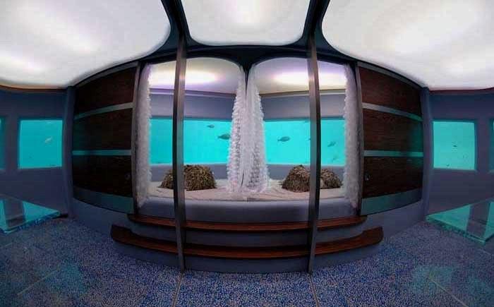 Подводные люкс-апартаменты в отеле Songjiang InterContinental.