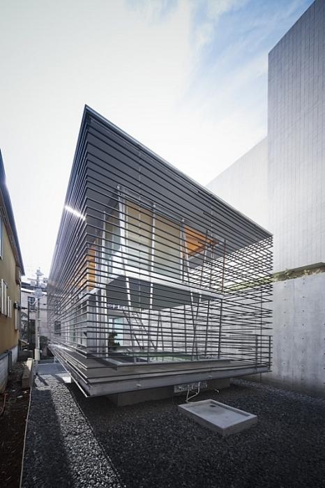 Дом-модуль «Ходзе» в виде клетки (Япония). | Фото: houseplansllcblog.wordpress.com.
