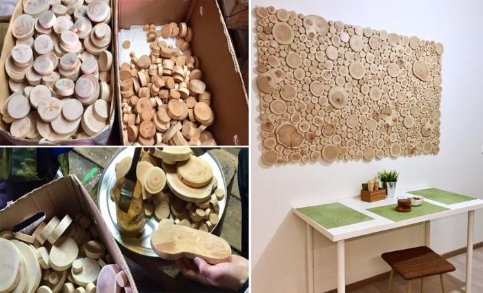Если планируете делать панно или рамки из спилов, то их лучше приобретать готовыми. | Фото: kvartblog.ru.