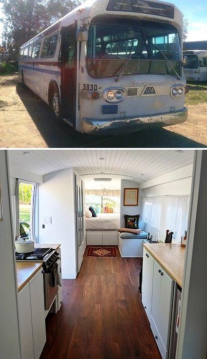 Списанный автобус 1966 года выпуска собственными силами превратили в идеальный мобильный дом. | Фото: boredpanda.com.
