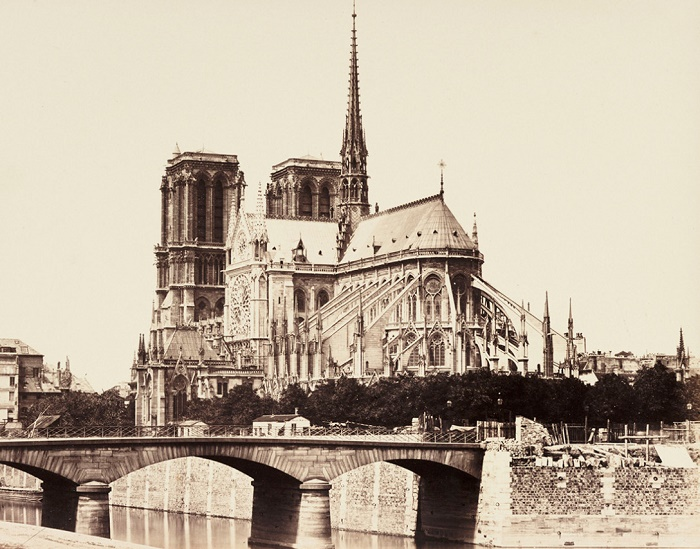 Так выглядел Собор Парижской Богоматери после реставрации в 1865 г.