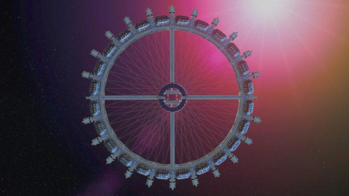 Отель будет медленно вращаться вокруг своей оси, искусственно создавая гравитацию (концепт отеля Von Braun Space Station). | Фото: chance4traveller.com.