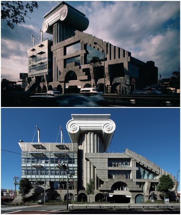 Выставочный зал М2 – идеальный пример коллажного стиля дизайна постмодернизма.
