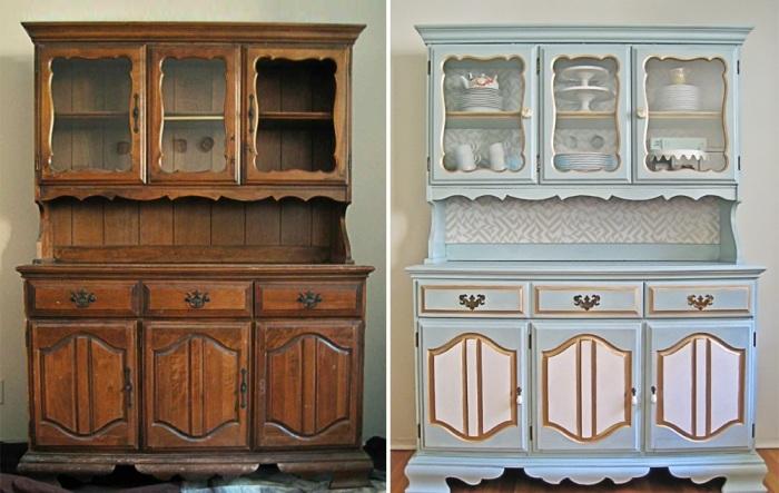 Используя краску и свою фантазию, можно создать уникальную мебель. | Фото: kvartblog.ru.