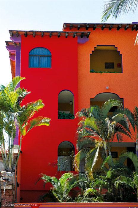 Традиционный мексиканский дом.