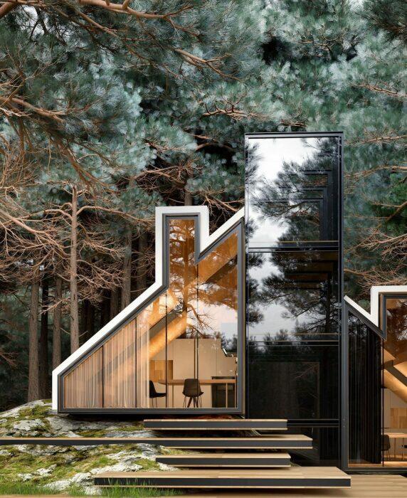 YORK house – фантастической красоты загородный дом (концепт Alex Nerovnya Architects). | Фото: mymodernmet.com.