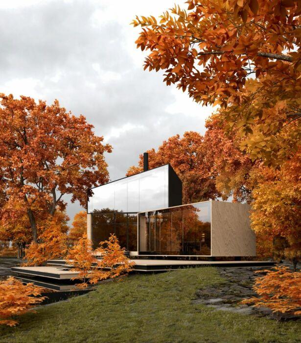 YUKON house – современный дом, который сливается с природой (концепт Alex Nerovnya Architects). | Фото: siaarchitecture.fr.