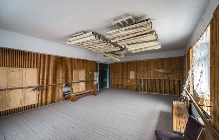 Танцевальная студия в доме культуры поселка Пирамида (Архипелаг Шпицберген).