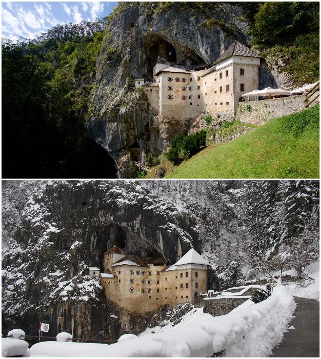Горный замок Предъяма предлагает незабываемые впечатления в сказочном мире рыцарей (Словения).
