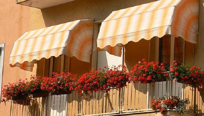 Оранжерейные маркизы украсят фасад здания.