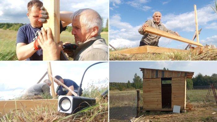 Незрячий сын собственноручно построил новый дом для своей 86-летней мамы