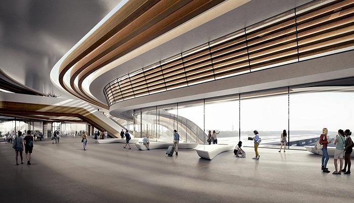 Новый вокзал будет оснащен современными системами навигации и комфортными зонами ожидания и отдыха (Таллин, визуализация вокзала). | Фото: robbreport.com.