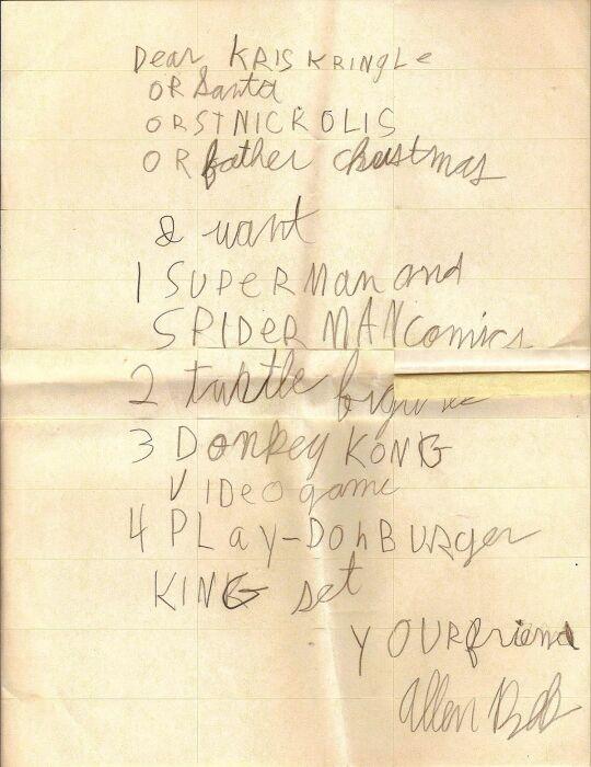 Список желаний американского ребенка. / Фото: wikipedia.org