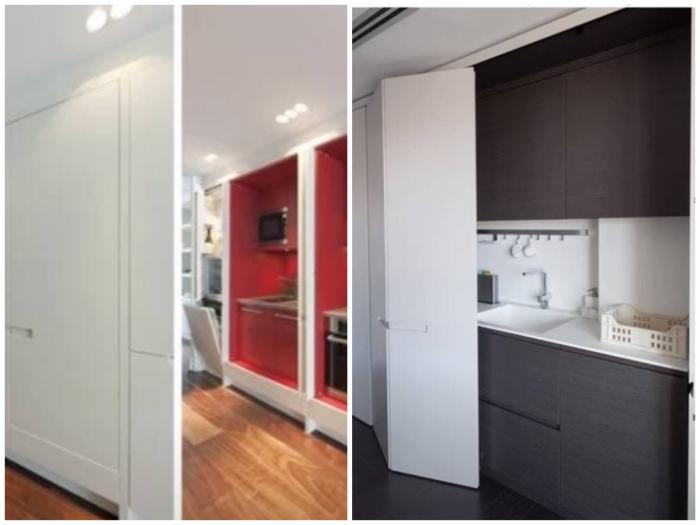 Стеновая панель для скрытой кухни.