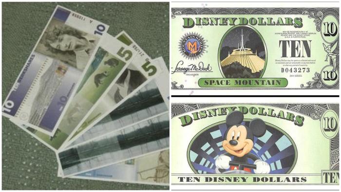Местные валюты Беркшира, штат Массачуссетс, и ДиснейЛенда.