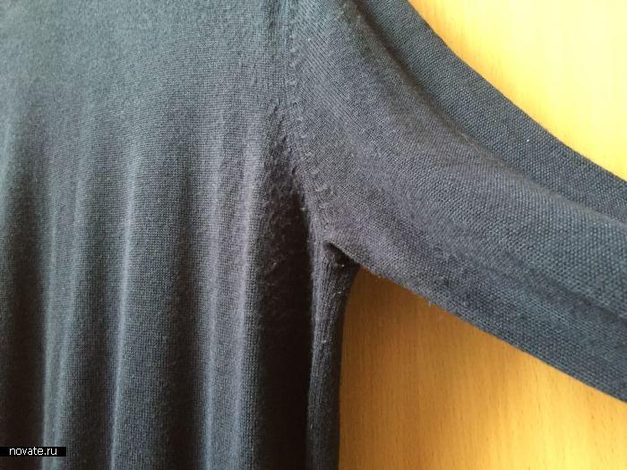 Катышки на одежде не являются нормой.