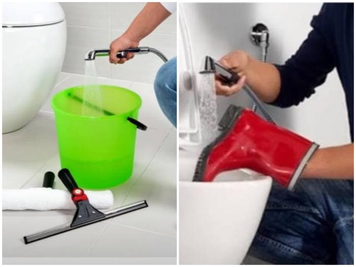 Гигиенический душ в санузле - первоклассный помощник по дому.