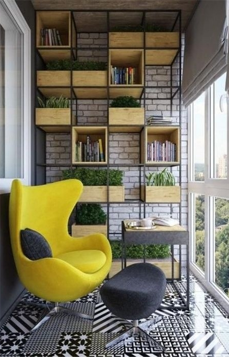 Балкон для книгоманов. / Фото: pinterest.com