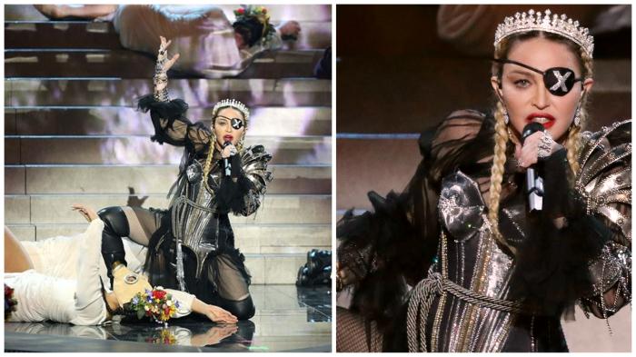 Ошеломительная Мадонна ив  60 лет продолжает шокировать публику.