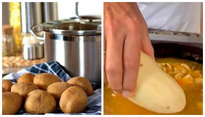 Картофель спасёт от избытка соли!