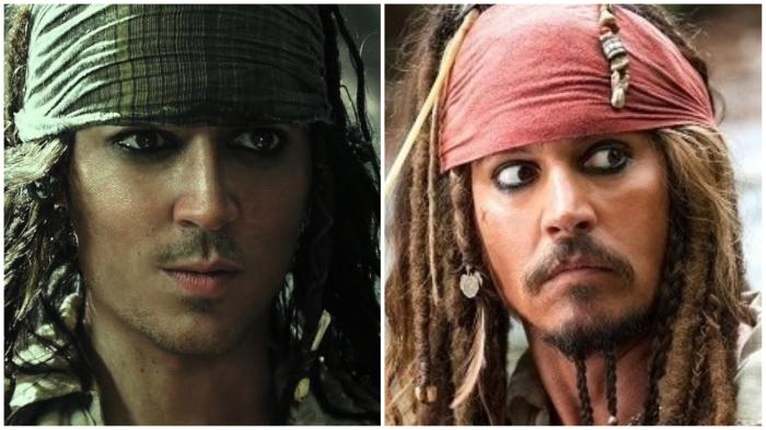 Джек в юности (слева) и зрелости (справа).