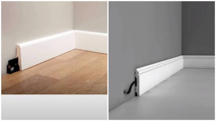 За модерновыми шкафами не должно быть плинтусов.
