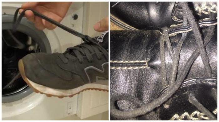 Шнурки - самая грязная часть обуви.