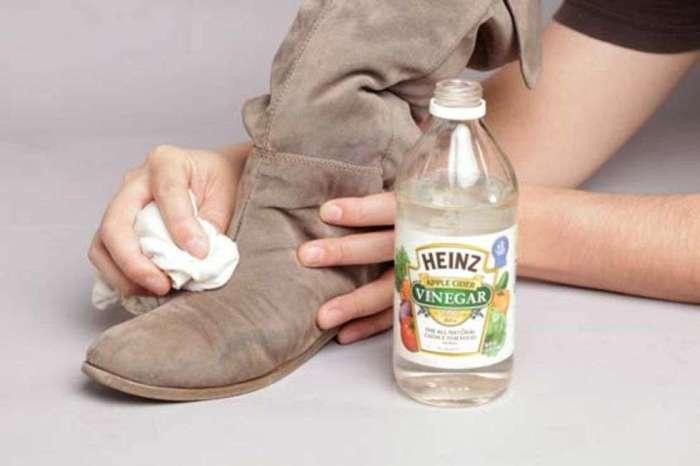 В наши дни уксус чаще бывает полезен на полке средств для ухода за обувью, нежели на кухне. / Фото: kcook.info