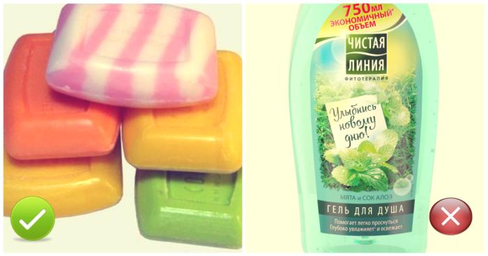 В жару мойтесь мылом и мочалкой.