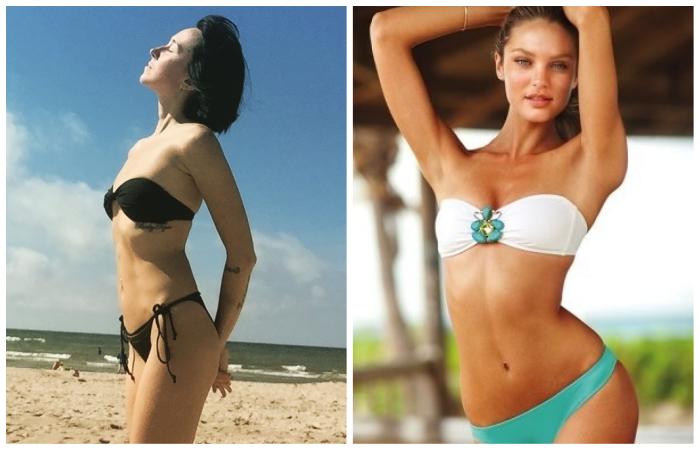 Бандо - самый аккуратный вариант для обладательниц груди 1-2 размера.