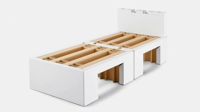 Антисекс-кровати для спортсменов на токийской Олимпиаде. / Фото: elledecoration.ru