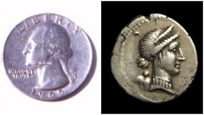 «Подбритые» монеты разных эпох.