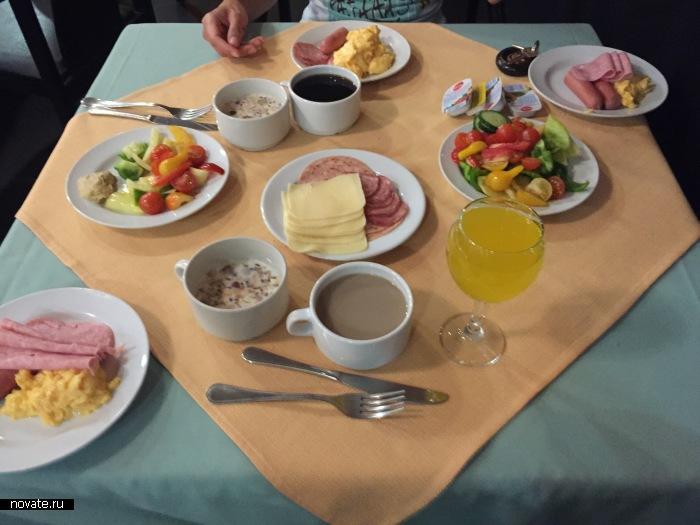 Транзитный завтрак-безлимит.