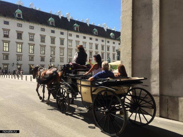 Фиакры - жемчужина пешеходных экскурсий по Вене, столице Австрии.