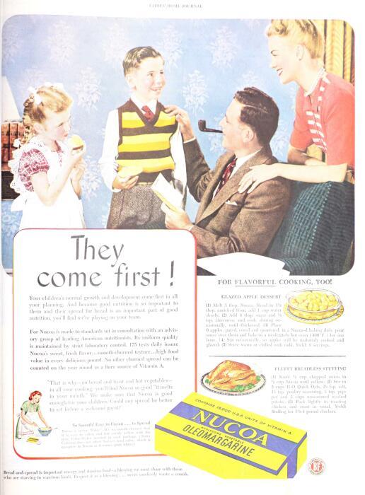Реклама маргарина в журнале The Ladies' Home journal, 1947. / Фото: wikipedia.org