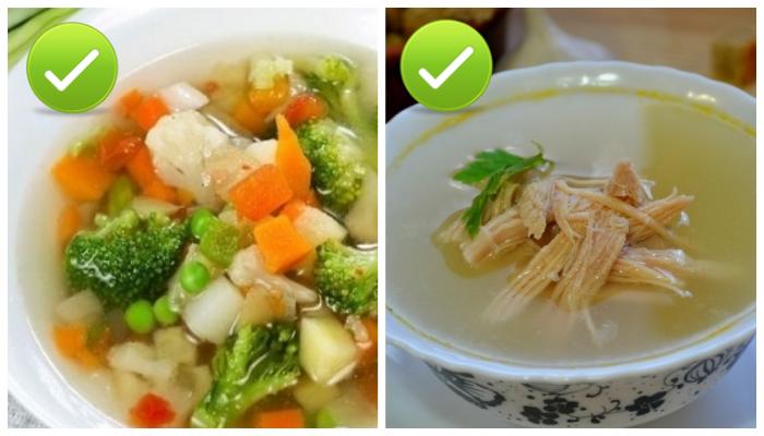 Правильные супы.