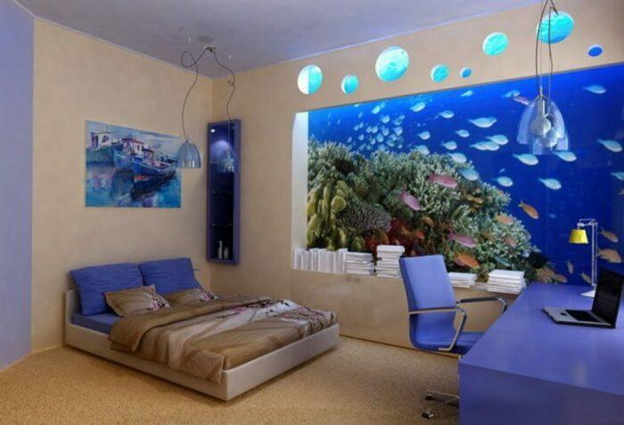 Сухой аквариум. / Фото: moypodval.ru