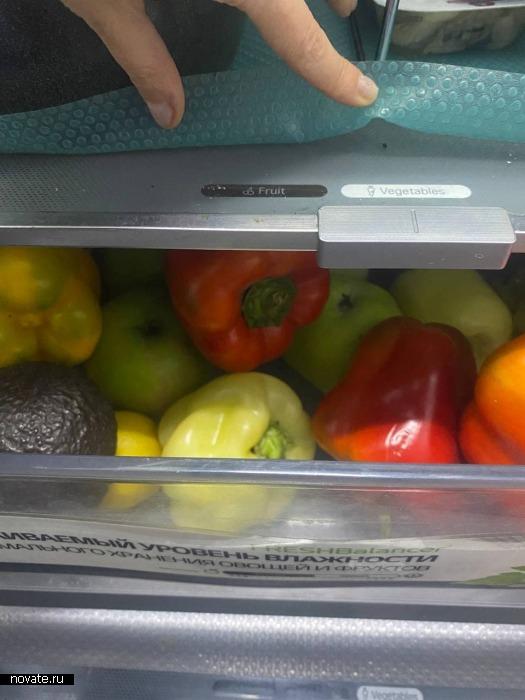В отсеке для овощей должны быть только овощи! И так для всего остального!