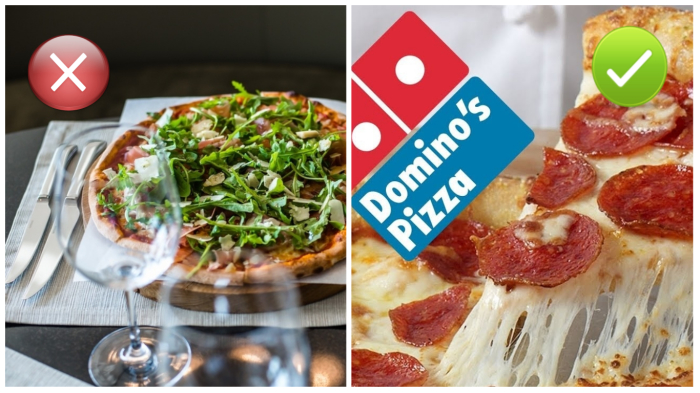 Пиццу лучше заказывать в пиццерии.