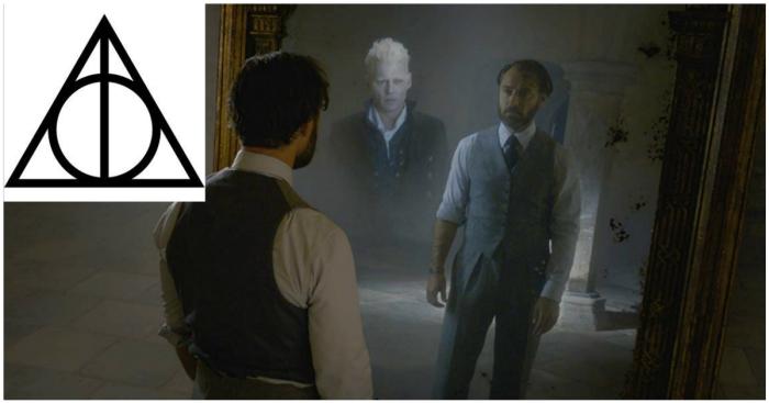 Являющийся Дамблдору в мечтаниях Грин-де-Вальд в исполнении Джонни Деппа.