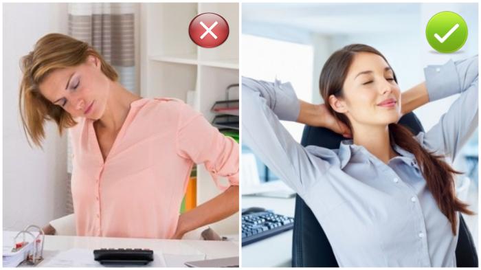 Облегчаем боли в спине при сидячей работе.